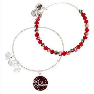 Alex and Ani Believe Set of 2 Expandable Bracelets